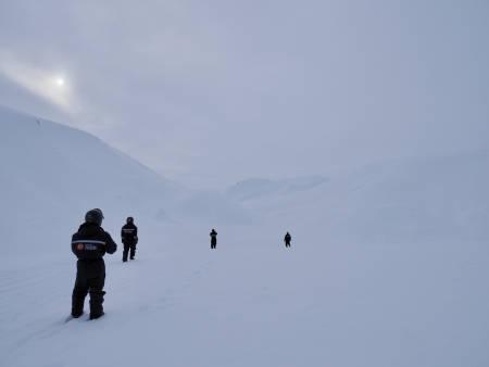 Fint lys på vei til Barentsburg. Foto: Lisa Kvålshaugen Bjærum