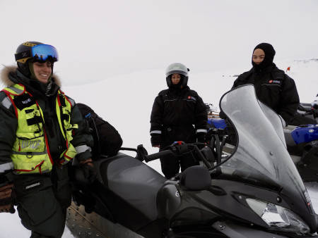 Signe og to andre gjester på turen. Foto: Lisa Kvålshaugen Bjærum