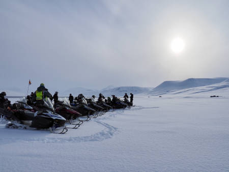 Svalbard snøscooter