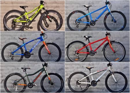 Test av Barnesykler med 24 tommers hjul. Diamant, White, Superior, Gekko, Xeed, Frog bikes