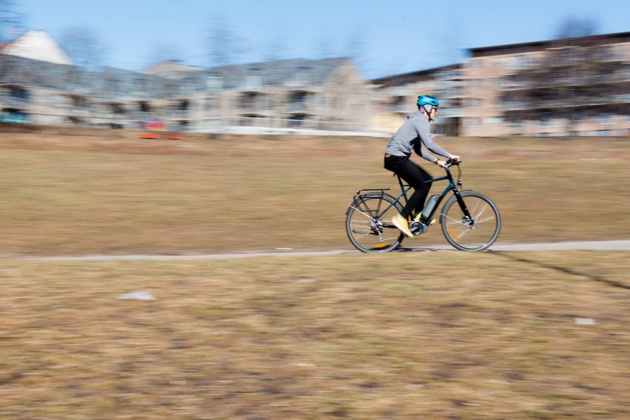 TEST AV ELSYKLER: Elsykler lar deg sykle uten å svette alt for mye.