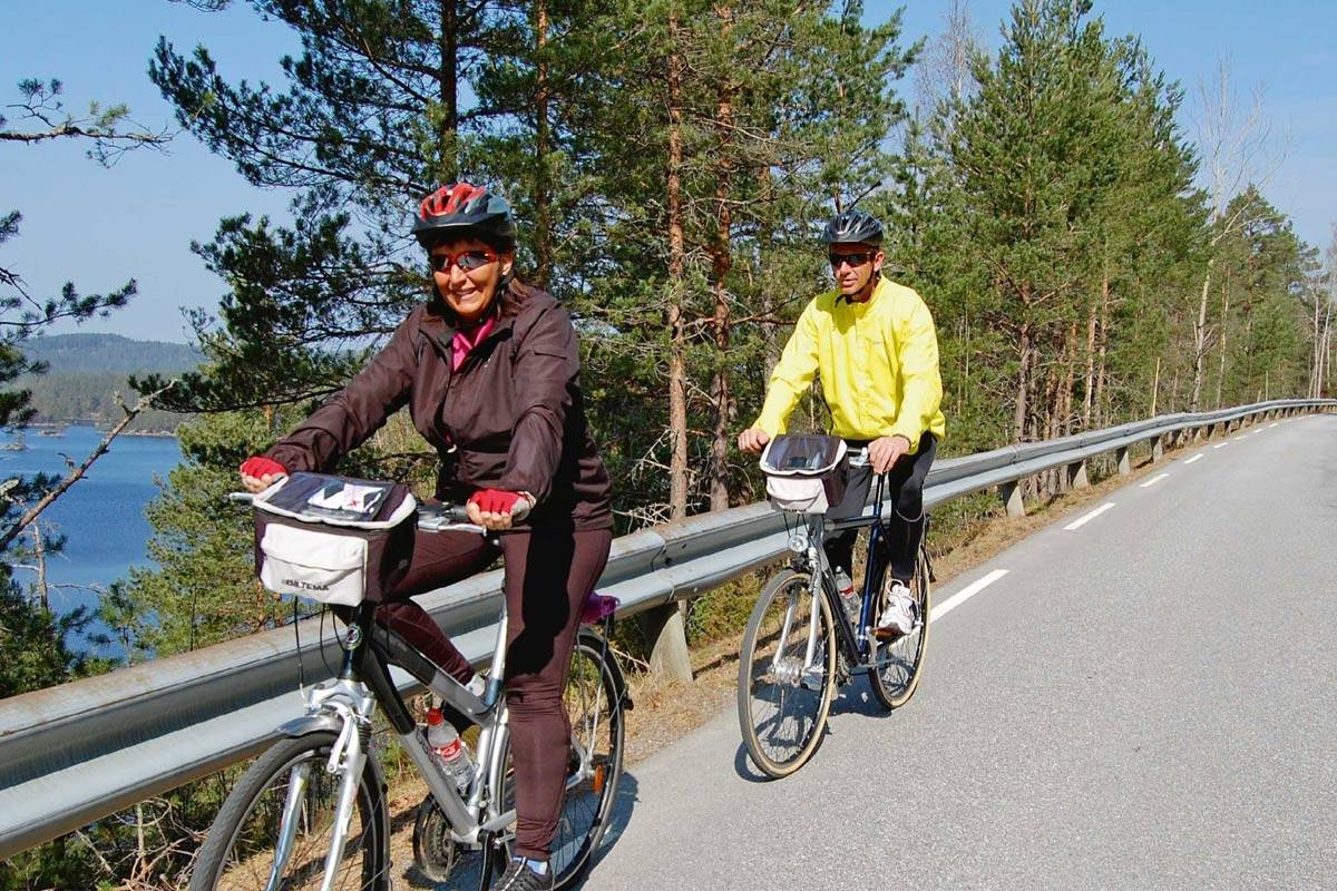 Veien rundt Ogge er ca. 30 km lang. Foto: Torolf Kroglund