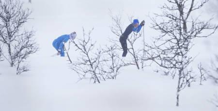 I kamp mot snøfokk og konkurrenter.