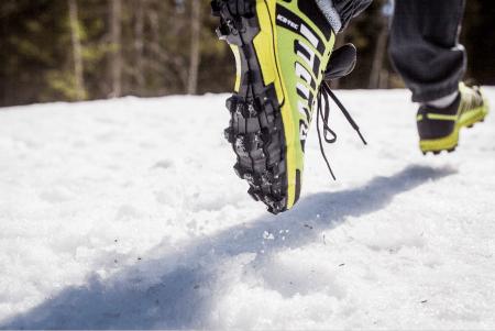 Test av vinterløpesko med pigg