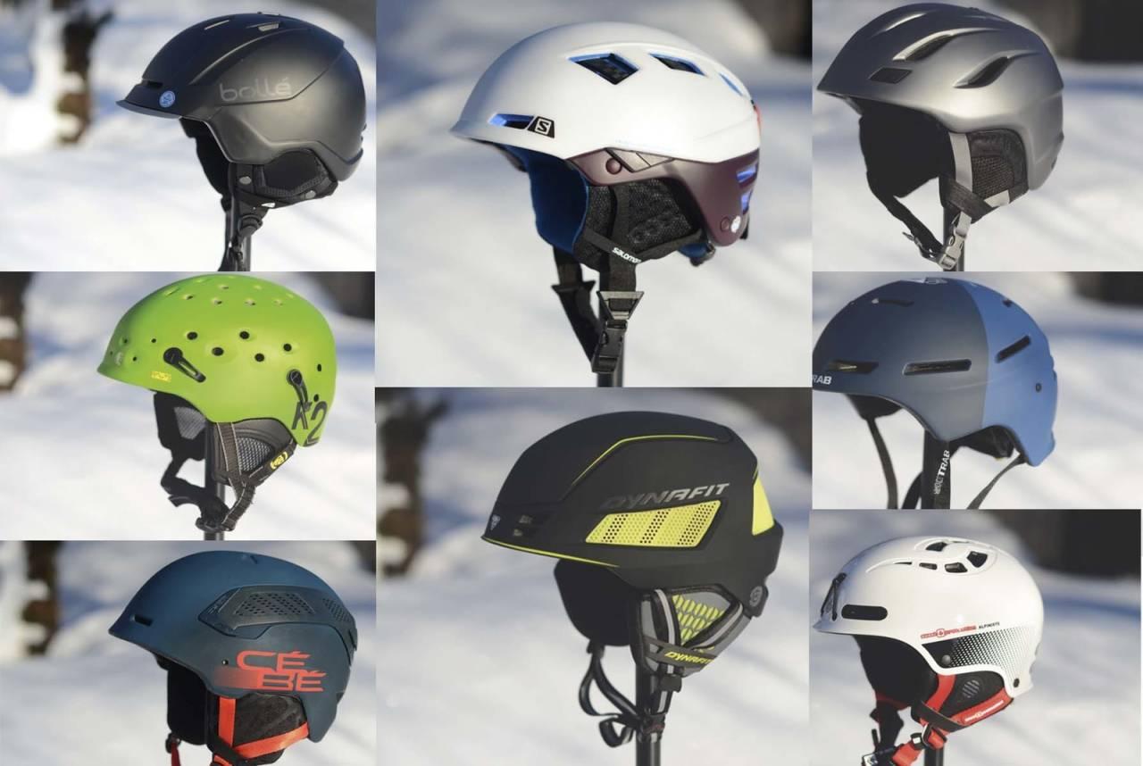 HJELM FOR TOPPTUR: Vi tester hjelmer både oppover og nedover, for å finne den mest komfortable og beste hjelmen til toppturen. Foto: Sandra L. Wangberg