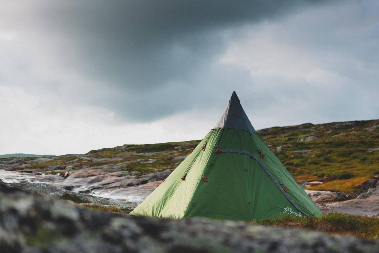 TEST AV LAVVO: Med lavvo har du en god base for tur. Foto: Kristoffer H. Kippernes