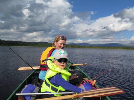 kanotur med barn