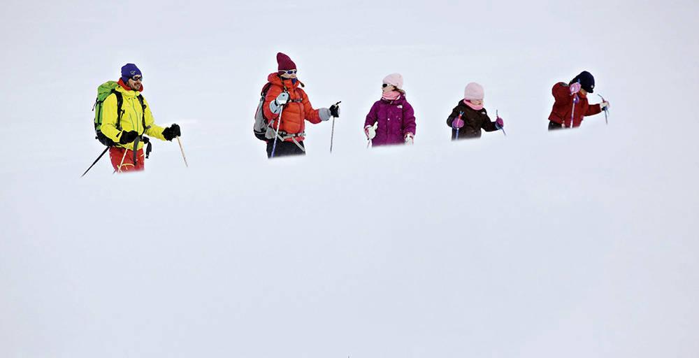 Langrennstur i Skarvheimen i februar. Foto: Jørn H. Moen