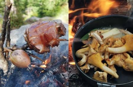 utenetter god mat finere mat på tur langtidsstekt kjøtt på bål