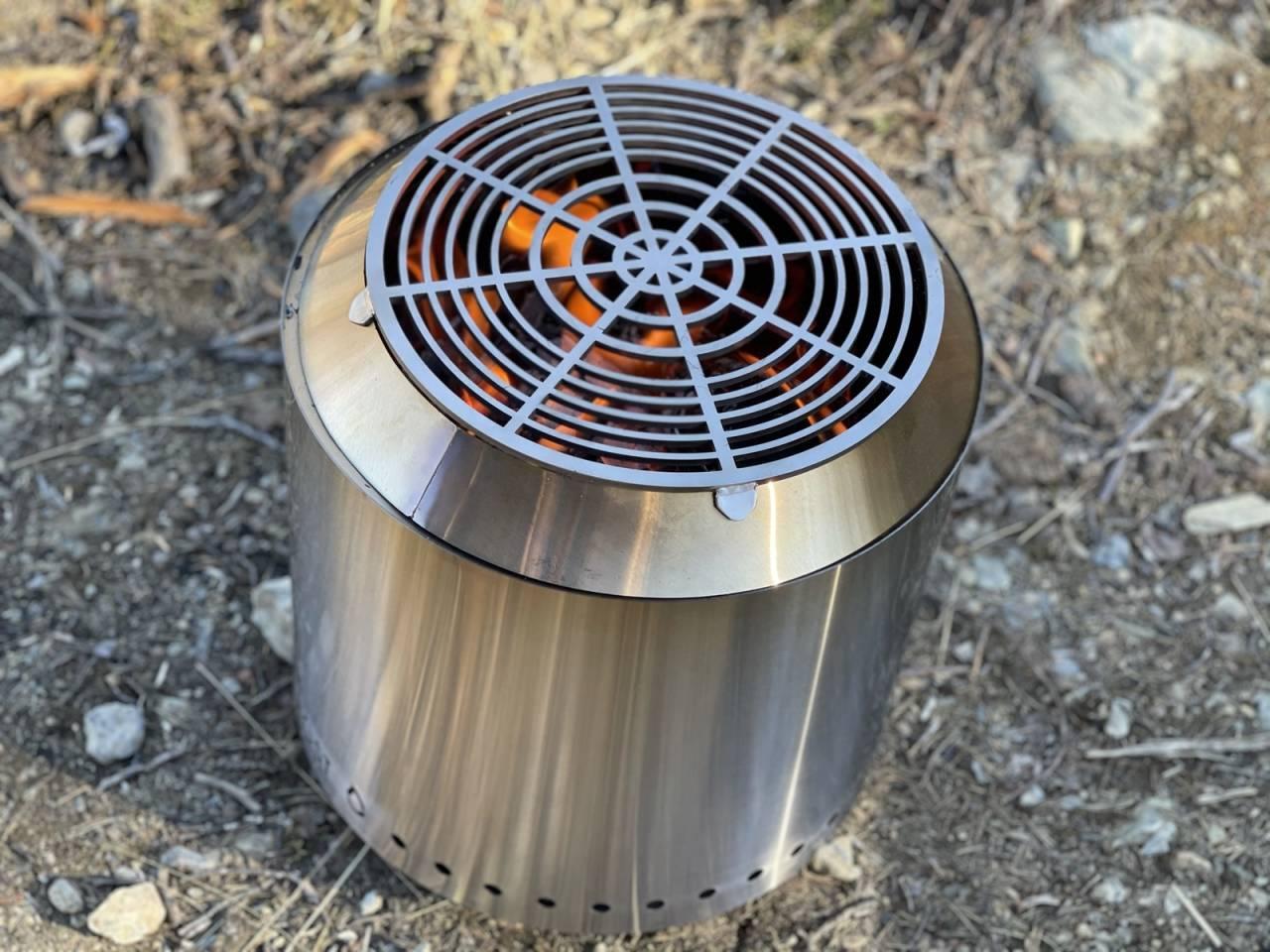 test av bålpanner Frost Camper