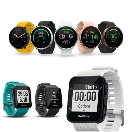 Garmin Forerunner 30, 35 og Polar Ignite