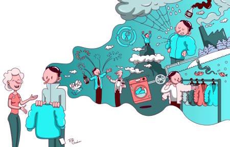 : – Forbrukeren er først og fremst opptatt av miljø når han eller hun kaster ting, sier Ingunn Klepp, forbruksforsker ved SIFO. Illustrasjon: Rudi Gundersen