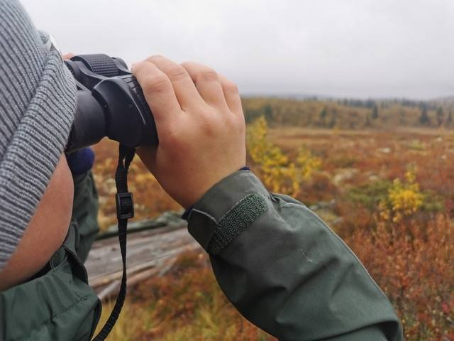 KIKKERT PÅ TUR: En god kikkert i riktig størrelse er en fantastisk venn på tur. Foto: Gunhild Aaslie Soldal