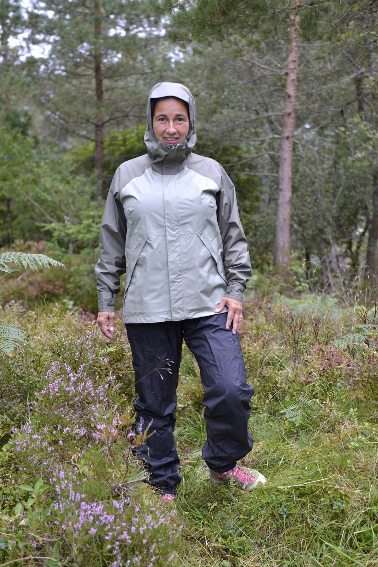 test av regntøy til fjelltur Bergans vatne