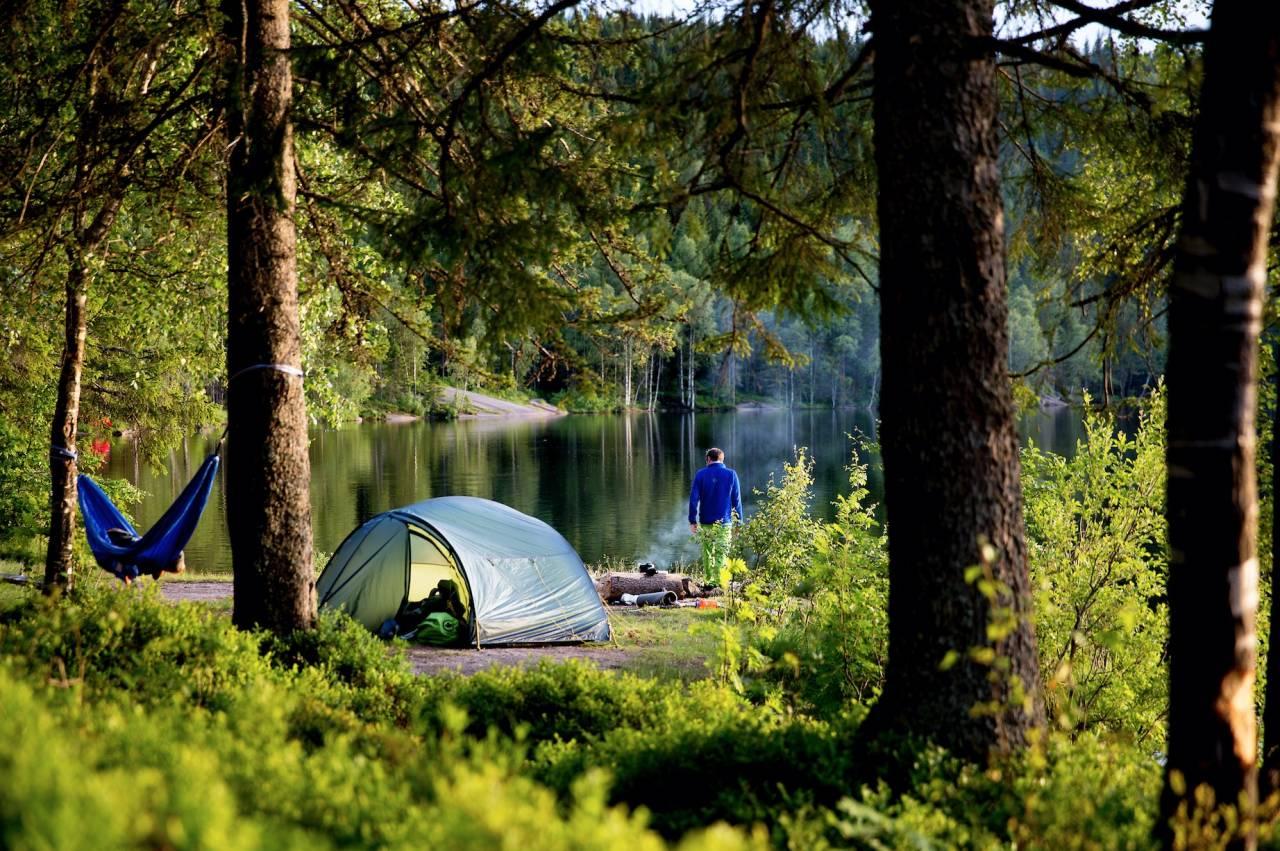 en fin teltplass