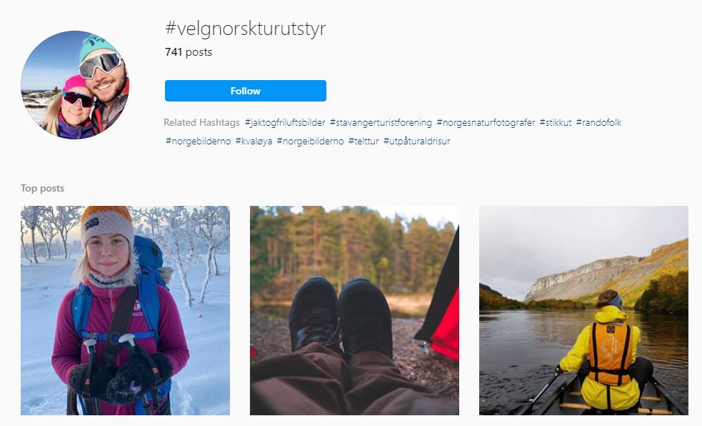 instagram velgnorskturutstyr norsk sportsbransjje utstyrsnytt utemagasinet