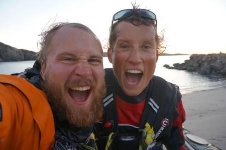 Sånn ser man ut etter å ha padlet 3250 km i havkajakk. Foto: Eilif Rosnæs