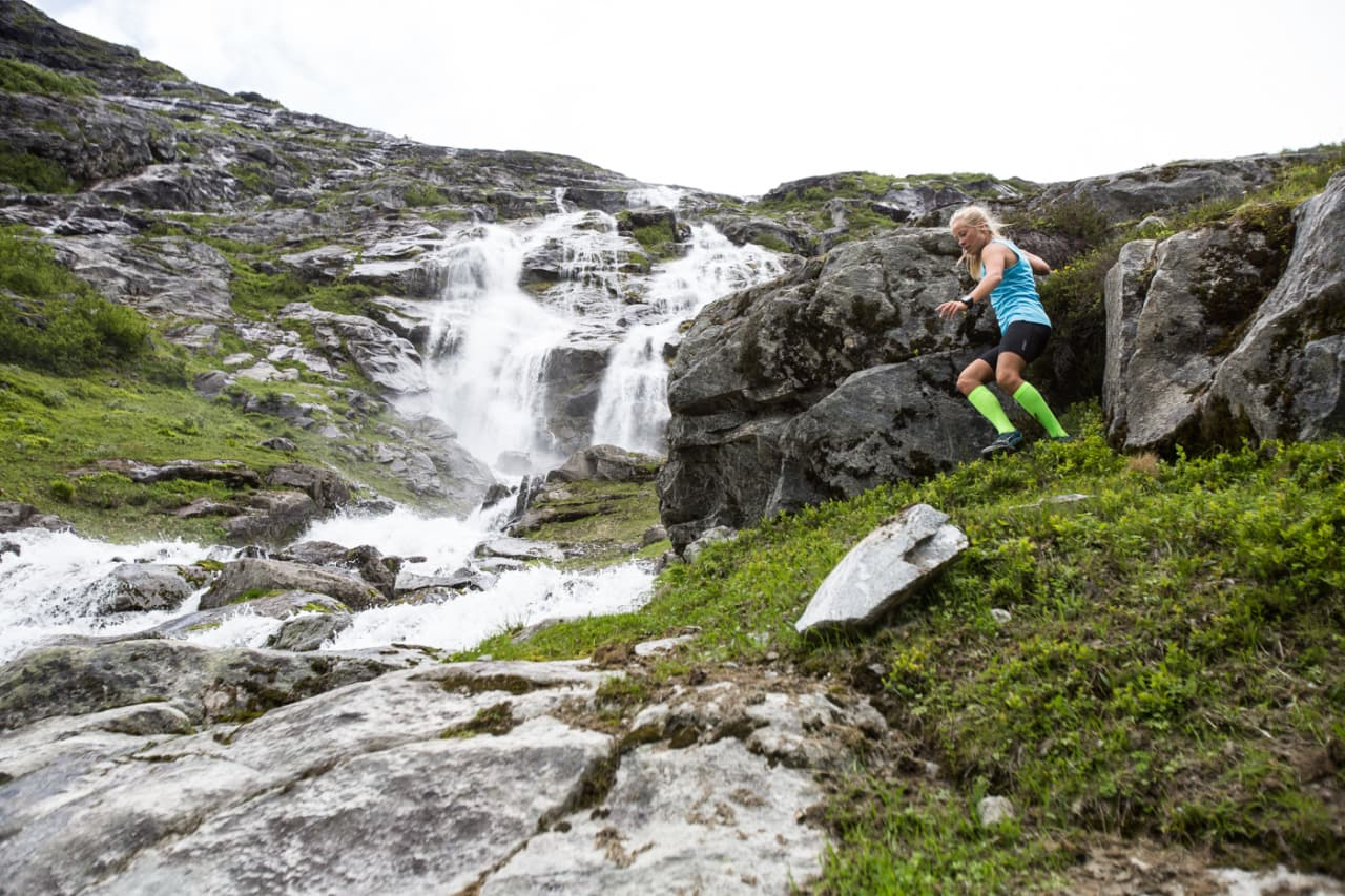 LAR DET STÅ TIL: Malene Blikken Haukøy anbefaler å ikke holde for mye igjen når det bikker nedover. Bilde: Christian Nerdrum