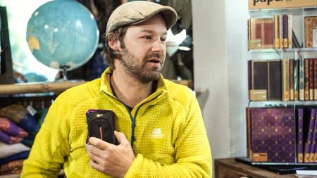 PETTER: I innslaget forteller Petter Nyquist om smarte knep for deg som vil ta flotte ekspedisjonsbilder på kalde reiser. Foto: Christian Nerdrum