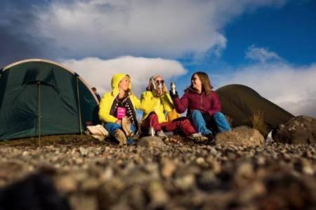 Feelgood i teltleiren. Foto: Kristine Lindebø