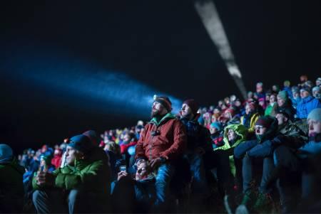 FIlmvisning på den store Ute-scena. Foto: Kristine Lindebø