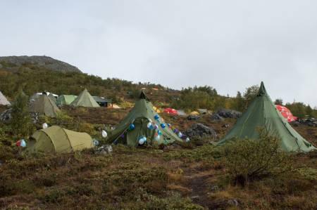 Er dette Norges hyggeligste teltleir? Foto: Caroline Altmann