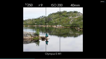 DET GYLNE SNITT: Mange kameraer har et rutenett som kan hjelpe deg finne det gylne snitt. Hvis ikke må du forestille deg det selv. Foto: Kristin Folsland Olsen
