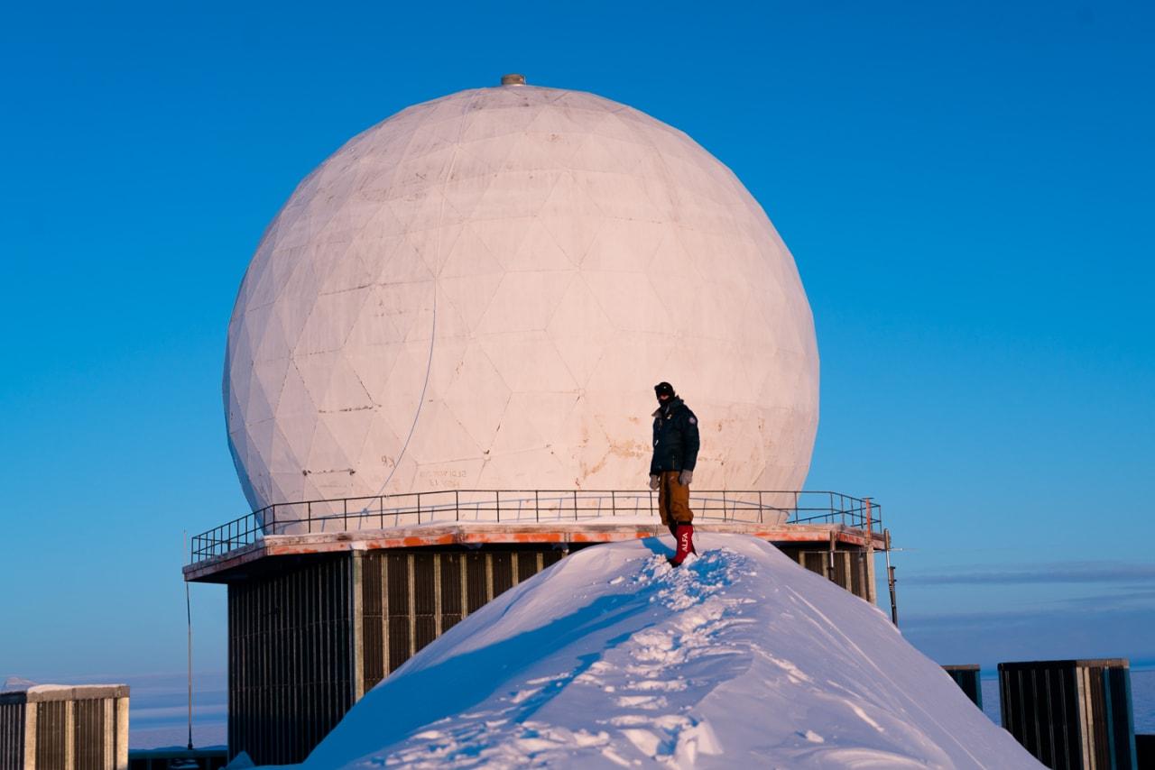 DELMÅL: Den amerikanske radarstasjone DYE II. Foto: Tor Berge/ Norexplore