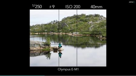 DET GYLNE SNITT: Mange kameraer har et rutenett som kan hjelpe deg finne det gylne snitt. Hvis ikke må du forestille deg det selv. Bilde: Kristin Folsland Olsen