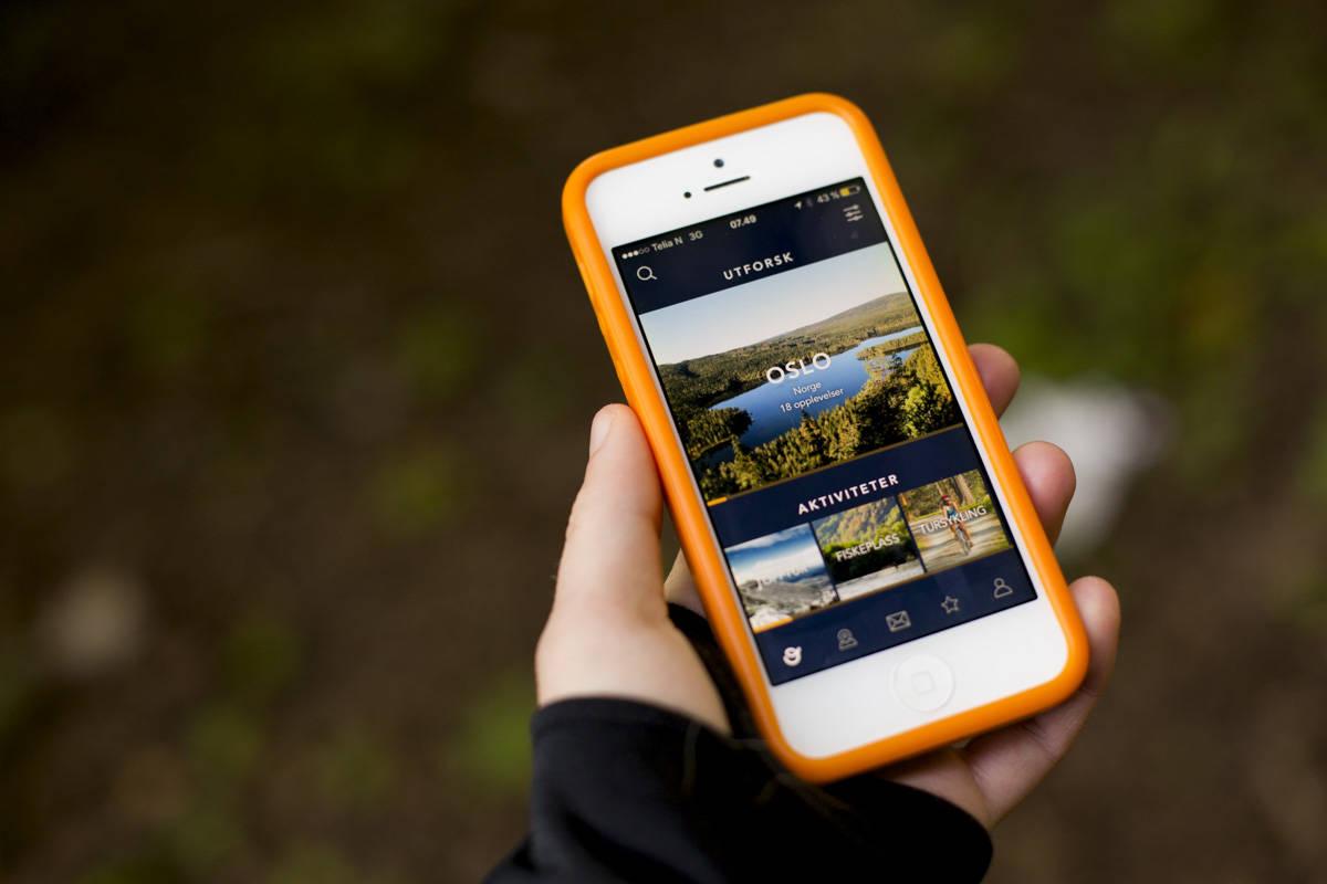 Outtt er en av flere apper som gir deg turtips i nærheten av der du befinner deg. Foto: Line Hårklau