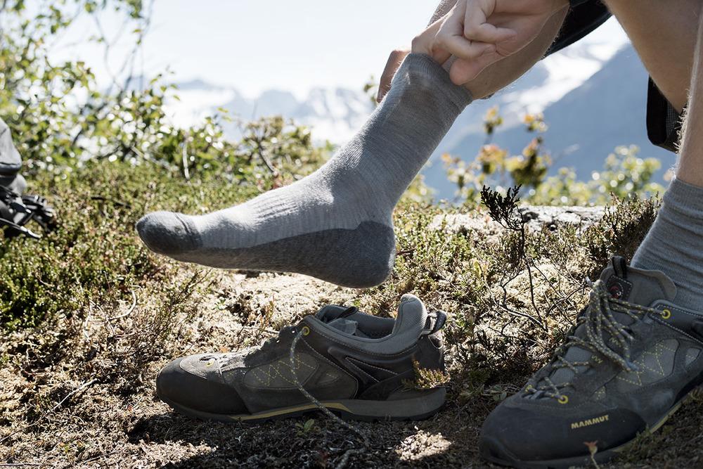 AVGJØRENDE: Gode sokker er med på å holde deg varm og hjelper for å unngå gnagsår. Foto: Devold