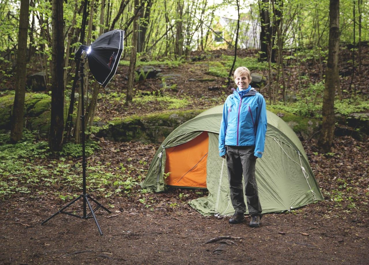 KVALITET: Helsport Rundhø var et populært telt. Det ble lansert på tampen av 1970-tallet og er fremdeles å se i bruk.